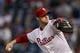 Sep 7, 2013; Philadelphia, PA, USA; Philadelphia Phillies pitcher Kyle Kendrick (38) delivers to the plate during the first inning against the Atlanta Braves at Citizens Bank Park. Mandatory Credit: Howard Smith-USA TODAY Sports