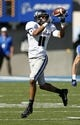 Sep 7, 2013; Colorado Springs, CO, USA; Utah State Aggies wide receiver Brandon Swindall (11) makes a catch in the third quarter against the Air Force Falcons at Falcon Stadium. The Aggies won 52-20. Mandatory Credit: Isaiah J. Downing-USA TODAY Sports