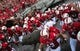 Sep 7, 2013; Raleigh, NC, USA; North Carolina State Wolfpack players take the field prior to a game against the Richmond Spiders at Carter Finley Stadium. Mandatory Credit: Rob Kinnan-USA TODAY Sports