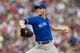Sep 7, 2013; Minneapolis, MN, USA; Toronto Blue Jays starting pitcher J.A. Happ (48) delivers a pitch in the first inning against the Minnesota Twins at Target Field. Mandatory Credit: Jesse Johnson-USA TODAY Sports