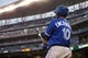 Sep 7, 2013; Minneapolis, MN, USA; Toronto Blue Jays first baseman Edwin Encarnacion (10) looks on from the on deck circle in the fifth inning against the Minnesota Twins at Target Field. Mandatory Credit: Jesse Johnson-USA TODAY Sports