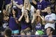 Sep 7, 2013; Evanston, IL, USA; Northwestern Wildcats fans cheer on their team against the Syracuse Orange during the third quarter at Ryan Field. Mandatory Credit: David Banks-USA TODAY Sports