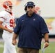 Sep 7, 2013; El Paso, TX, USA; UTEP Miners first year head coach Sean Kugler paces the sidelines during the first half against the New Mexico Lobos at Sun Bowl Stadium. Mandatory Credit: Ivan Pierre Aguirre-USA TODAY Sports