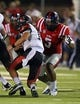 Sep 7, 2013; Oxford, MS, USA; Mississippi Rebels defensive end Robert Nkemdiche (5) goes in for the tackle on Southeast Missouri State Redhawks quarterback Scott Lathrop (17) during the second half at Vaught-Hemingway Stadium. Mandatory Credit: Spruce Derden-USA TODAY Sports