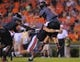 Sep 7, 2013; Auburn, AL, USA; Auburn Tigers defensive end Craig Sanders (13) takes down Arkansas State Red Wolves quarterback Adam Kennedy (5) at Jordan Hare Stadium. Mandatory Credit: Shanna Lockwood-USA TODAY Sports