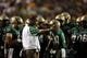 Sep 7, 2013; Baton Rouge, LA, USA; UAB Blazers head coach Garrick McGee talks with his team during a timeout against the LSU Tigers in the second half at Tiger Stadium. LSU defeated UAB 56-17. Mandatory Credit: Crystal LoGiudice-USA TODAY Sports