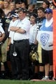 Sep 7, 2013; Boulder, CO, USA; Colorado Buffaloes head coach Mike Macintyre on his sidelines in the first quarter against the Central Arkansas Bears at Folsom Field. Mandatory Credit: Ron Chenoy-USA TODAY Sports