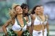 Sep 8, 2013; East Rutherford, NJ, USA; New York Jets Flight Crew cheerleaders perform during the first half against the Tampa Bay Buccaneers at MetLife Stadium. The Jets won 18-17. Mandatory Credit: Joe Camporeale-USA TODAY Sports