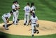 Sep 8, 2013; San Diego, CA, USA; Colorado Rockies pitcher Roy Oswalt (44) is taken out of the game during the seventh inning against the San Diego Padres at Petco Park. Mandatory Credit: Christopher Hanewinckel-USA TODAY Sports