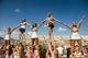 Sep 7, 2013; Waco, TX, USA; The Baylor Bears cheerleaders during the game between the Bears and the Buffalo Bulls at Floyd Casey Stadium. The Bears defeated the Bulls 70-13. Mandatory Credit: Jerome Miron-USA TODAY Sports