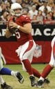 Aug 17, 2013; Phoenix, AZ, USA; Arizona Cardinals quarterback Drew Stanton (5) passes the ball during the second quarter against the Dallas Cowboys at University of Phoenix Stadium. Mandatory Credit: Casey Sapio-USA TODAY Sports