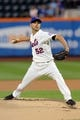 Sep 9, 2013; New York, NY, USA; New York Mets starting pitcher Carlos Torres (52) pitches against the Washington Nationals during the first inning of a game at Citi Field. Mandatory Credit: Brad Penner-USA TODAY Sports