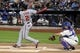 Sep 9, 2013; New York, NY, USA; Washington Nationals center fielder Denard Span (2) hits a solo home run against the New York Mets during the first inning of a game at Citi Field. Mandatory Credit: Brad Penner-USA TODAY Sports
