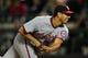 Sep 9, 2013; New York, NY, USA; Washington Nationals starting pitcher Gio Gonzalez (47) pitches against the New York Mets during the seventh inning of a game at Citi Field. Mandatory Credit: Brad Penner-USA TODAY Sports