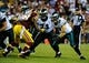 Sep 9, 2013; Landover, MD, USA; Philadelphia Eagles tight end Zach Ertz (86) prepares to block against Washington Redskins linebacker Brian Orakpo (98) during the second half at FedEX Field. The Eagles won 33 - 27. Mandatory Credit: Brad Mills-USA TODAY Sports