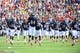 Sep 7, 2013; Charlottesville, VA, USA; Virginia Cavaliers players run on to the field before the game at Scott Stadium. Mandatory Credit: Bob Donnan-USA TODAY Sports