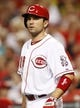 Sep 10, 2013; Cincinnati, OH, USA; Cincinnati Reds first baseman Joey Votto (19) stands on the deck circle during the third inning against the Chicago Cubs at Great American Ball Park. Mandatory Credit: Frank Victores-USA TODAY Sports