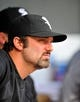 Sep 8, 2013; Baltimore, MD, USA; Chicago White Sox first baseman Paul Konerko (14) on the bench during the third inning against the Baltimore Orioles at Oriole Park at Camden Yards. The White Sox defeated the Orioles 4-2. Mandatory Credit: Joy R. Absalon-USA TODAY Sports