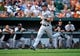 Sep 8, 2013; Baltimore, MD, USA; Chicago White Sox third baseman Conor Gillaspie (12) heads towards home plate in the second inning against the Baltimore Orioles at Oriole Park at Camden Yards. The White Sox defeated the Orioles 4-2. Mandatory Credit: Joy R. Absalon-USA TODAY Sports