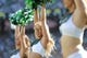 Sep 8, 2013; East Rutherford, NJ, USA; The New York Jets flight crew cheerleaders perform during the second half at MetLife Stadium. The Jets won 18-17. Mandatory Credit: Joe Camporeale-USA TODAY Sports