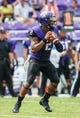 Sep 7, 2013; Fort Worth, TX, USA; TCU Horned Frogs quarterback Trevone Boykin (2) throws during the game against the Southeastern Louisiana Lions at Amon G. Carter Stadium. Mandatory Credit: Kevin Jairaj-USA TODAY Sports