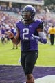 Sep 7, 2013; Fort Worth, TX, USA; TCU Horned Frogs quarterback Trevone Boykin (2) during the game against the Southeastern Louisiana Lions at Amon G. Carter Stadium. Mandatory Credit: Kevin Jairaj-USA TODAY Sports