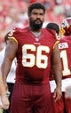 Aug 29, 2013; Tampa, FL, USA; Washington Redskins guard Chris Chester (66) works out prior to the game against the Tampa Bay Buccaneers at Raymond James Stadium. Mandatory Credit: Kim Klement-USA TODAY Sports