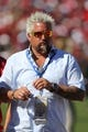 Sep 8, 2013; San Francisco, CA, USA; Guy Fieri on the sideline during the fourth quarter between the San Francisco 49ers and the Green Bay Packers at Candlestick Park. The San Francisco 49ers defeated the Green Bay Packers 34-28. Mandatory Credit: Kelley L Cox-USA TODAY Sports