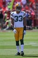 Sep 8, 2013; San Francisco, CA, USA; Green Bay Packers cornerback Micah Hyde (33) before the game against the San Francisco 49ers at Candlestick Park. Mandatory Credit: Kelley L Cox-USA TODAY Sports