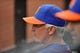 Sep 12, 2013; New York, NY, USA; New York Mets manager Terry Collins (10) looks on during the fourth inning against the Washington Nationals at Citi Field. Mandatory Credit: Joe Camporeale-USA TODAY Sports