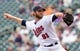 Sep 12, 2013; Minneapolis, MN, USA; Minnesota Twins pitcher Jared Burton (61) throws a pitch in the ninth inning against the Oakland Athletics at Target Field. Mandatory Credit: Brad Rempel-USA TODAY Sports