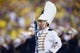 Sep 7, 2013; Ann Arbor, MI, USA; Notre Dame drum major before the game against the Michigan Wolverines at Michigan Stadium. Mandatory Credit: Rick Osentoski-USA TODAY Sports