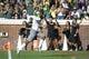 Sep 7, 2013; Charlottesville, VA, USA; Oregon Ducks wide receiver Josh Huff (1) scores a touchdown at Scott Stadium. Mandatory Credit: Bob Donnan-USA TODAY Sports