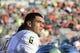 Sep 7, 2013; Charlottesville, VA, USA; Oregon Ducks quarterback Marcus Mariota (8) reacts on the sidelines at Scott Stadium. Mandatory Credit: Bob Donnan-USA TODAY Sports