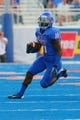 Sep 13, 2013; Boise, ID, USA; Boise State Broncos wide receiver Shane Williams-Rhodes (11) runs the ball during the first half against the Air Force Falcons at Bronco Stadium. Mandatory Credit: Brian Losness-USA TODAY Sports