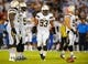Sep 9, 2013; San Diego, CA, USA; San Diego Chargers linebacker Dwight Freeney (93) lines up during the first half against the Houston Texans at Qualcomm Stadium. Mandatory Credit: Christopher Hanewinckel-USA TODAY Sports