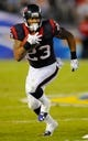 Sep 9, 2013; San Diego, CA, USA; Houston Texans running back Arian Foster (23) during the second half against the San Diego Chargers at Qualcomm Stadium. Mandatory Credit: Christopher Hanewinckel-USA TODAY Sports