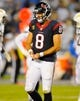 Sep 9, 2013; San Diego, CA, USA; Houston Texans quarterback Matt Schaub (8) during the second half against the San Diego Chargers at Qualcomm Stadium. Mandatory Credit: Christopher Hanewinckel-USA TODAY Sports
