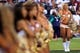 Sep 9, 2013; Landover, MD, USA; Washington Redskins cheerleaders sing the national anthem prior to the Redskins game against the Philadelphia Eagles. Mandatory Credit: Geoff Burke-USA TODAY Sports