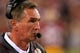 Sep 9, 2013; Landover, MD, USA; Washington Redskins head coach Mike Shanahan watches from the sidelines against the Philadelphia Eagles at FedEx Field. Mandatory Credit: Geoff Burke-USA TODAY Sports