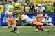 Sep 14, 2013; Eugene, OR, USA; Tennessee Volunteers defensive back Byron Moore (3) defends against Oregon Ducks tight end John Mundt (83) at Autzen Stadium. Mandatory Credit: Scott Olmos-USA TODAY Sports