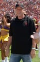 Sep 14, 2013; Los Angeles, CA, USA; Los Angeles Lakers executive Johnny Buss attends the NCAA football game between the Boston College Eagles and the Southern California Trojans at Los Angeles Memorial Coliseum.  Mandatory Credit: Kirby Lee-USA TODAY Sports