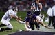 Sep 14, 2013; Evanston, IL, USA; Northwestern Wildcats wide receiver Tony Jones (6) is knocked out of bounds by Western Michigan Broncos safety Justin Currie (33) and linebacker Kyle Lark (40) during the second quarter at Ryan Field. Mandatory Credit: Jerry Lai-USA TODAY Sports