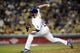 Sep 14, 2013; Los Angeles, CA, USA; Los Angeles Dodgers pitcher Stephen Fife (59) pitches against the San Francisco Giants during the fourth inning at Dodger Stadium. Mandatory Credit: Kelvin Kuo-USA TODAY Sports