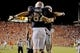 Sep 14, 2013; Auburn, AL, USA; Auburn Tigers tight end C.J. Uzomah (81) celebrates the game-winning touchdown against the Mississippi State Bulldogs at Jordan Hare Stadium. The Tigers defeated the Bulldogs 24-20. Mandatory Credit: Shanna Lockwood-USA TODAY Sports