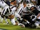 Sep 14, 2013; Auburn, AL, USA; Mississippi State Bulldogs quarterback Dak Prescott (15) makes a touchdown against the Auburn Tigers at Jordan Hare Stadium. The Tigers defeated the Bulldogs 24-20.  Mandatory Credit: Shanna Lockwood-USA TODAY Sports