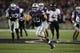 Sep 14, 2013; Manhattan, KS, USA; Kansas State Wildcats fullback Glenn Gronkowski (48) makes a 50-yard touchdown catch during a 37-7 win against the Massachusetts Minutemen at Bill Snyder Family Stadium. Mandatory Credit: Scott Sewell-USA TODAY Sports