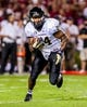 Sep 14, 2013; Columbia, SC, USA; Vanderbilt Commodores running back Wesley Tate (24) rushes for a big gain against the South Carolina Gamecocks in the second half at Williams-Brice Stadium. Mandatory Credit: Jeff Blake-USA TODAY Sports