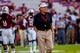 Sep 14, 2013; Columbia, SC, USA; South Carolina Gamecocks head coach Steve Spurrier directs his team before the game against the Vanderbilt Commodores at Williams-Brice Stadium. Mandatory Credit: Jeff Blake-USA TODAY Sports