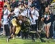 Sep 14, 2013; West Lafayette, IN, USA; Notre Dame Fighting Irish running back C.J. Prosise (20) carries the ball as Purdue Boilermakers cornerback Frankie Williams (24) defends in the third quarter at Ross-Ade Stadium. Notre Dame won 31-24. Mandatory Credit: Matt Cashore-USA TODAY Sports